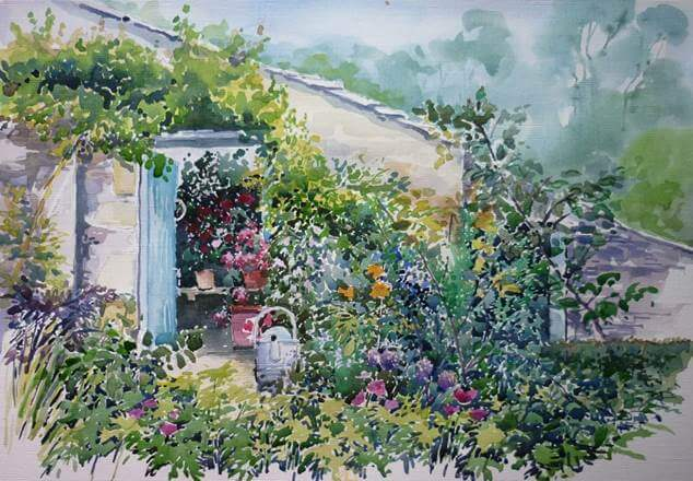 Potting Shed in a Garden